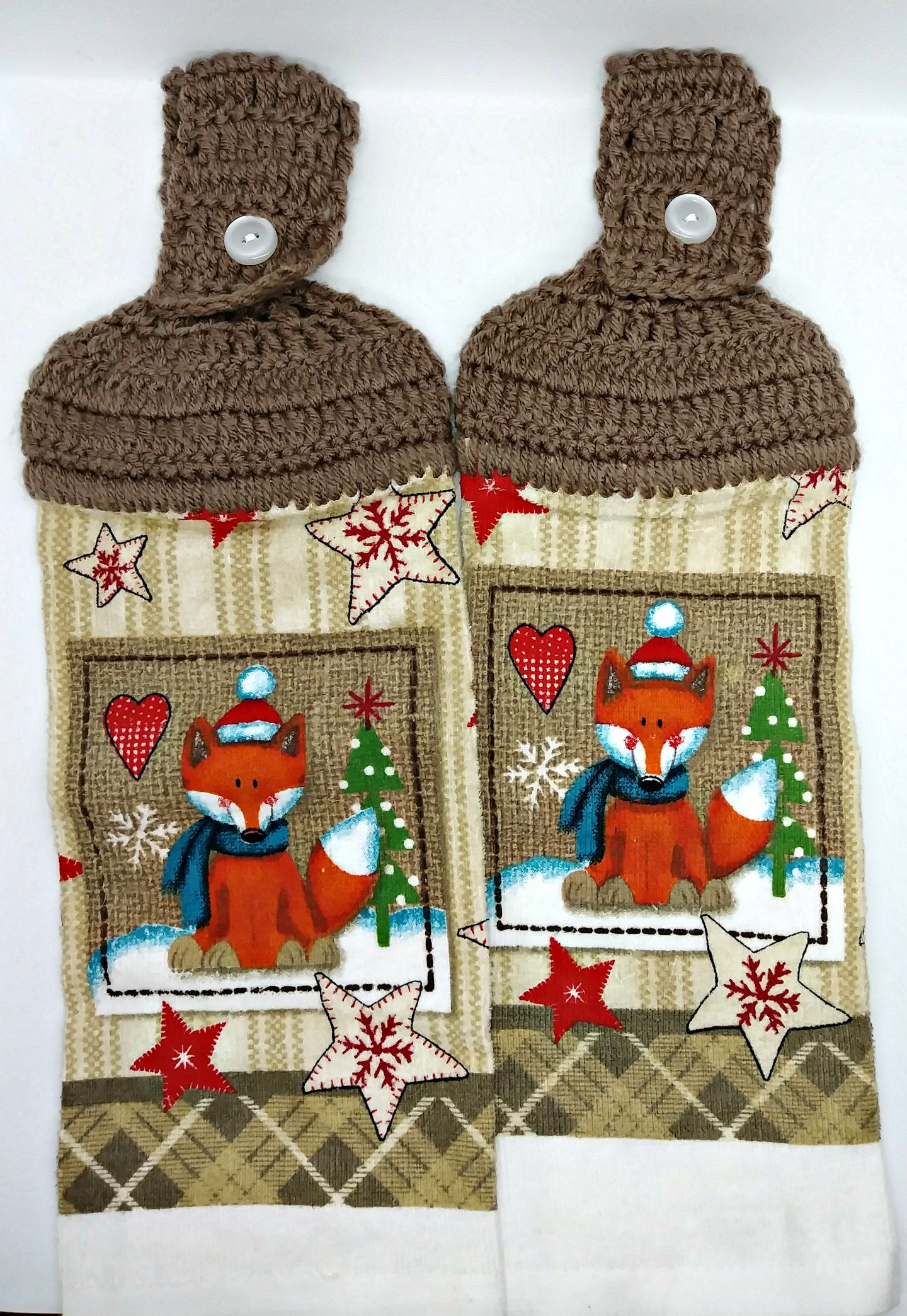 Christmas Fox Hanging Kitchen Towel Set