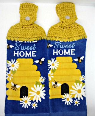 Home Sweet Home Honey Bees Hanging Kitchen Towel Set