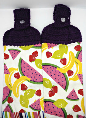 Banana Strawberry Watermelon Fruit Hanging Kitchen Towel Set