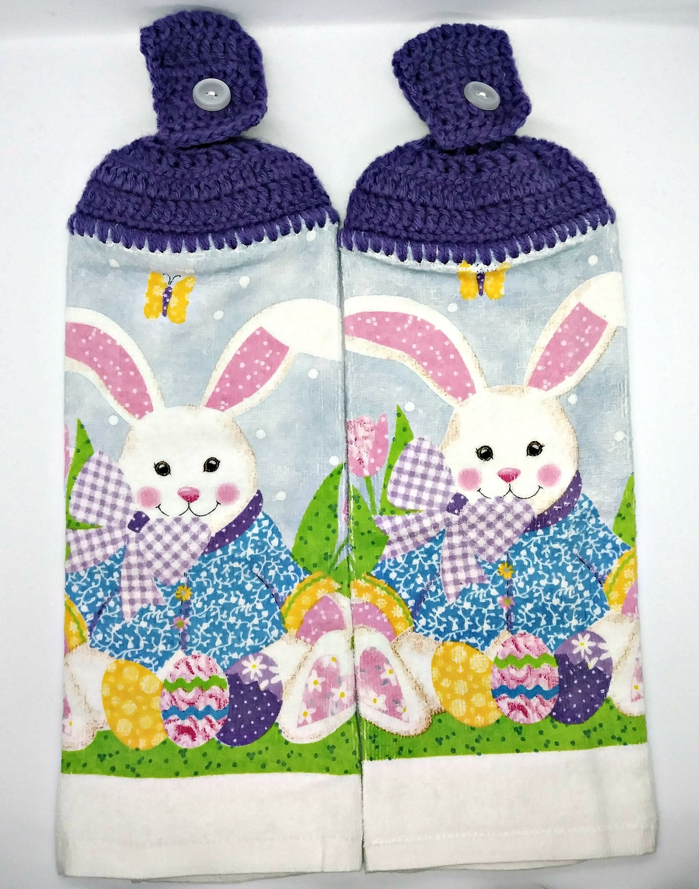 Adorable Easter Bunny Hanging Kitchen Towel Set