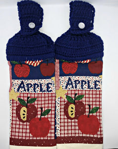 Apple Primitive Patriotic Hanging Kitchen Towel Set
