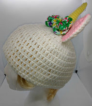 Load image into Gallery viewer, Teen Ladies Unicorn Horn with Roses Winter Hat