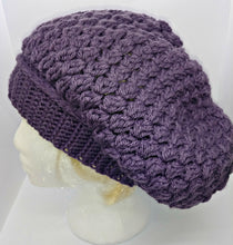 Load image into Gallery viewer, Ladies Teen Slouchy Toque Dark Lavender Winter Hat