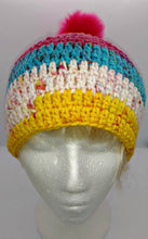 Load image into Gallery viewer, Ladies Teen Chunky Hat with Pompom