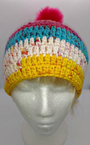 Ladies Teen Chunky Hat with Pompom