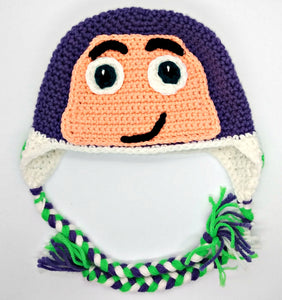 Space Ranger Character Winter Braided Hat Toddler Child Size