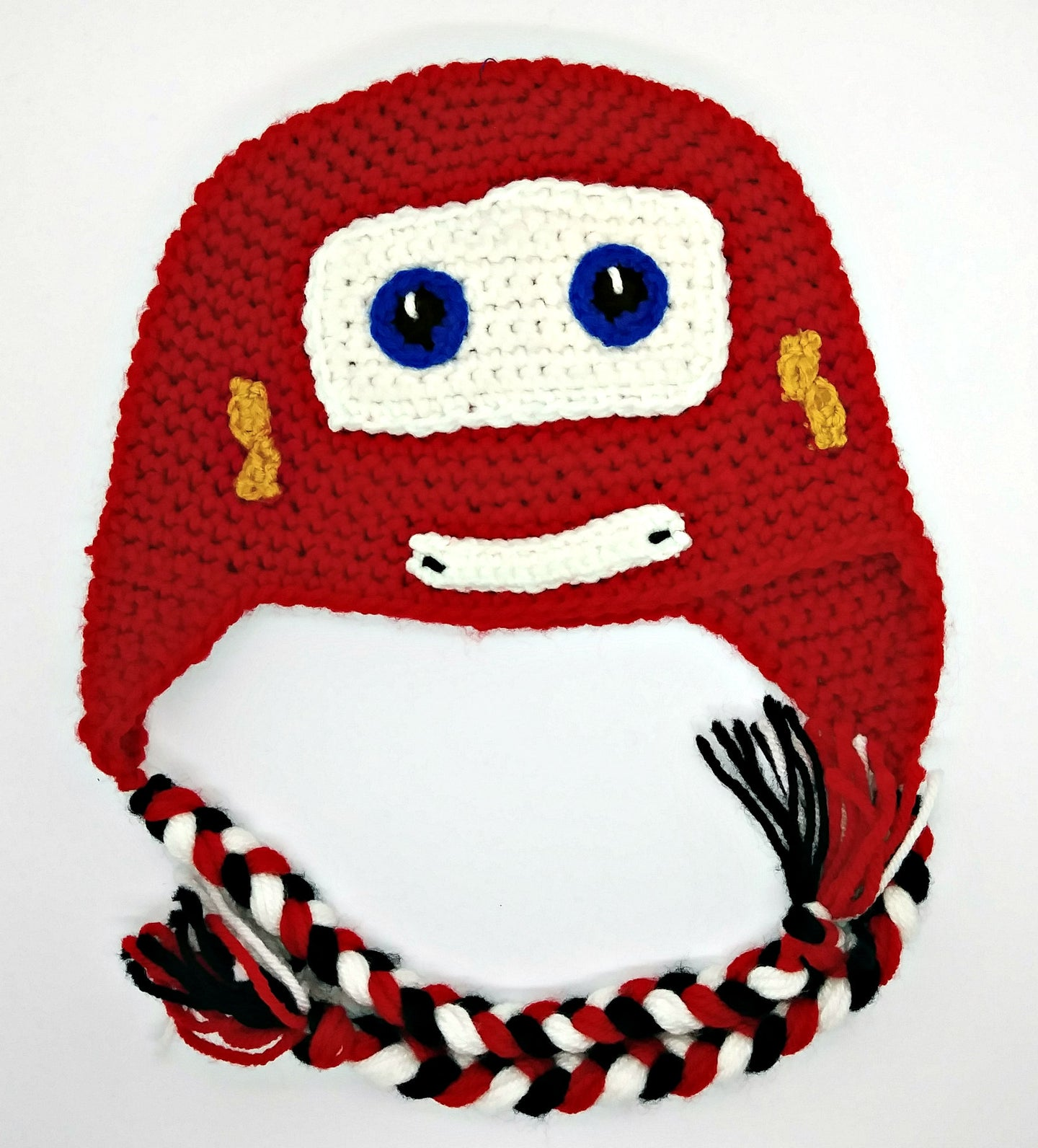 Race Car Character Winter Braided Hat Baby Toddler Size