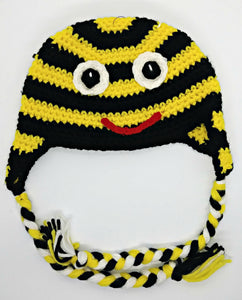 Bumble Bee Character Winter Braided Hat Baby Toddler Size