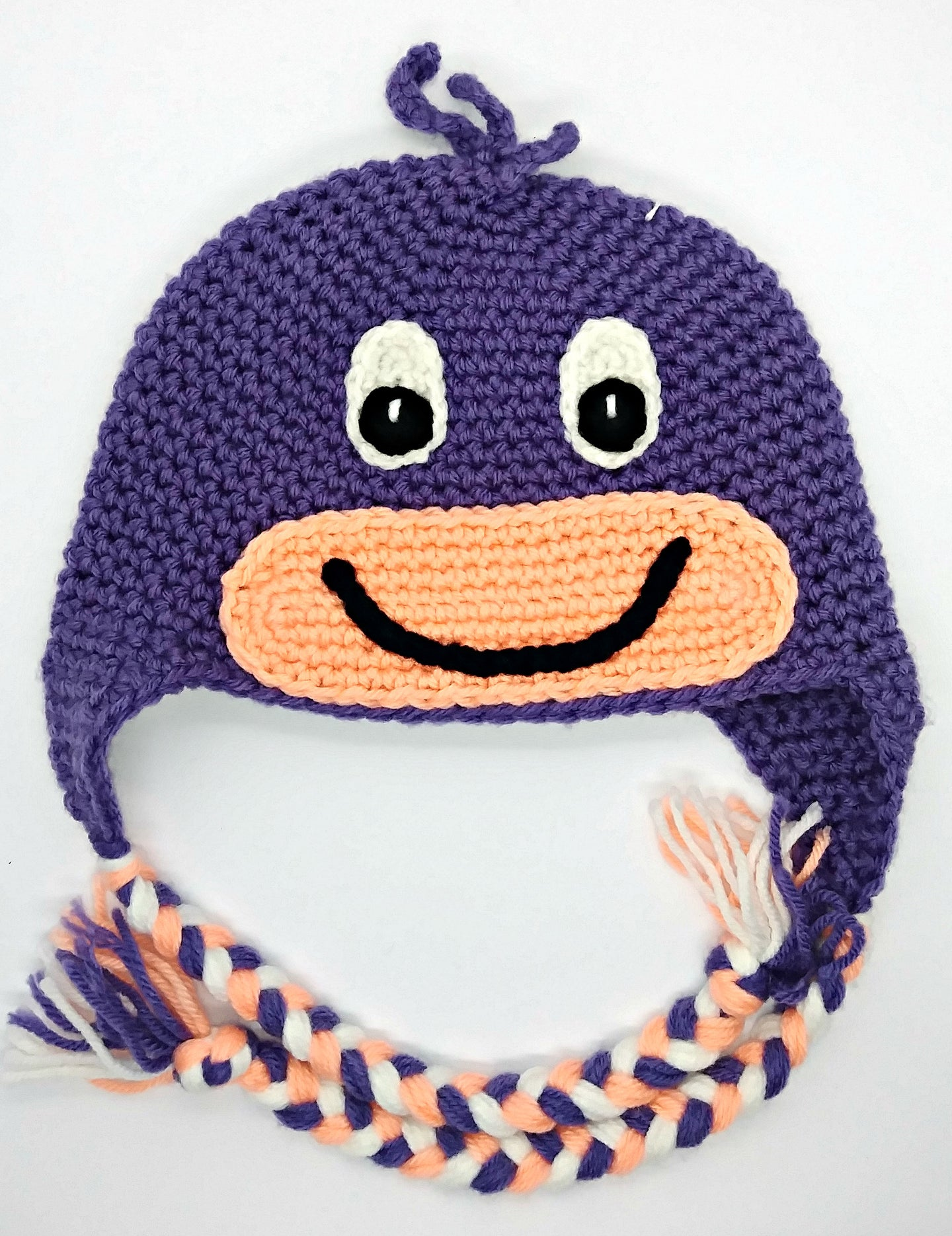 Dinosaur Character Winter Braided Hat Baby Toddler Size