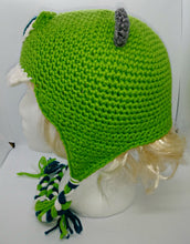 Load image into Gallery viewer, One Eyed Green Monster Character Winter Braided Hat Teen Adult Size