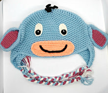 Load image into Gallery viewer, Depressed Donkey Character Winter Braided Hat Teen Adult Size