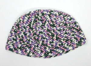 Pink Gray White Lavender Variegated Basic Winter Beanie Hat Ladies Teen