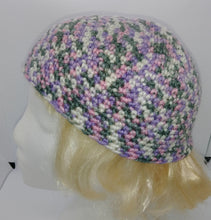 Load image into Gallery viewer, Pink Gray White Lavender Variegated Basic Winter Beanie Hat Ladies Teen