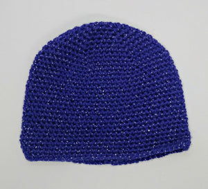 Child's Purple Glitter Basic Winter Beanie Hat
