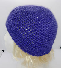 Load image into Gallery viewer, Child's Purple Glitter Basic Winter Beanie Hat