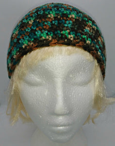 Browns & Teal Basic Winter Beanie Ladies Unisex