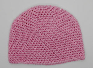 Pink Glitter Basic Winter Beanie Ladies Teen Hat