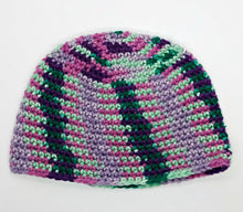 Load image into Gallery viewer, Fantasy Color Teal Greens Purple Basic Winter Beanie Ladies Teen