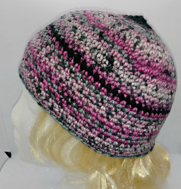 Pink, Gray Black Basic Winter Beanie Ladies Teen Hat XLarge