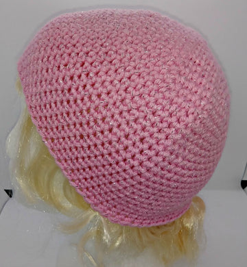 Child's Pink Glitter Basic Winter Beanie Hat