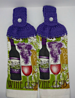Grapes & Wine Hanging Kitchen Towel Set