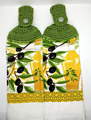 Olive Branch & Olive Oil Hanging Kitchen Towel Set