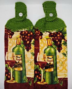 Wine Grapes Hanging Kitchen Towel Set