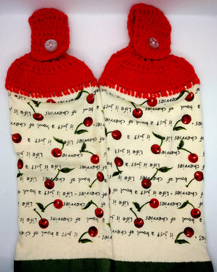 Cherries Hanging Kitchen Towel Set