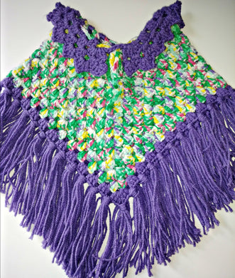 Baby Girls Poncho Size 24 Months Springtime Variegated Purple