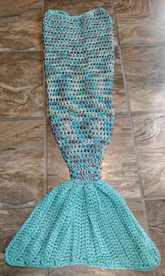 Icelandic Girl's Mermaid Tail Snuggler Blanket