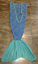 Load image into Gallery viewer, Ocean Girl's Mermaid Tail Snuggler Blanket