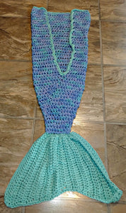 Ocean Girl's Mermaid Tail Snuggler Blanket