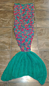 Coral Reef Girl's Mermaid Tail Snuggler Blanket