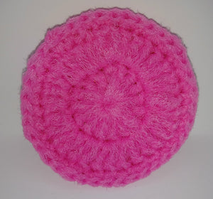 Bright Pink Nylon Dish Scrubbies