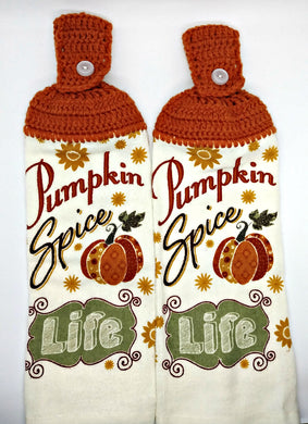 Pumpkin Spice Life Hanging Kitchen Towel Set