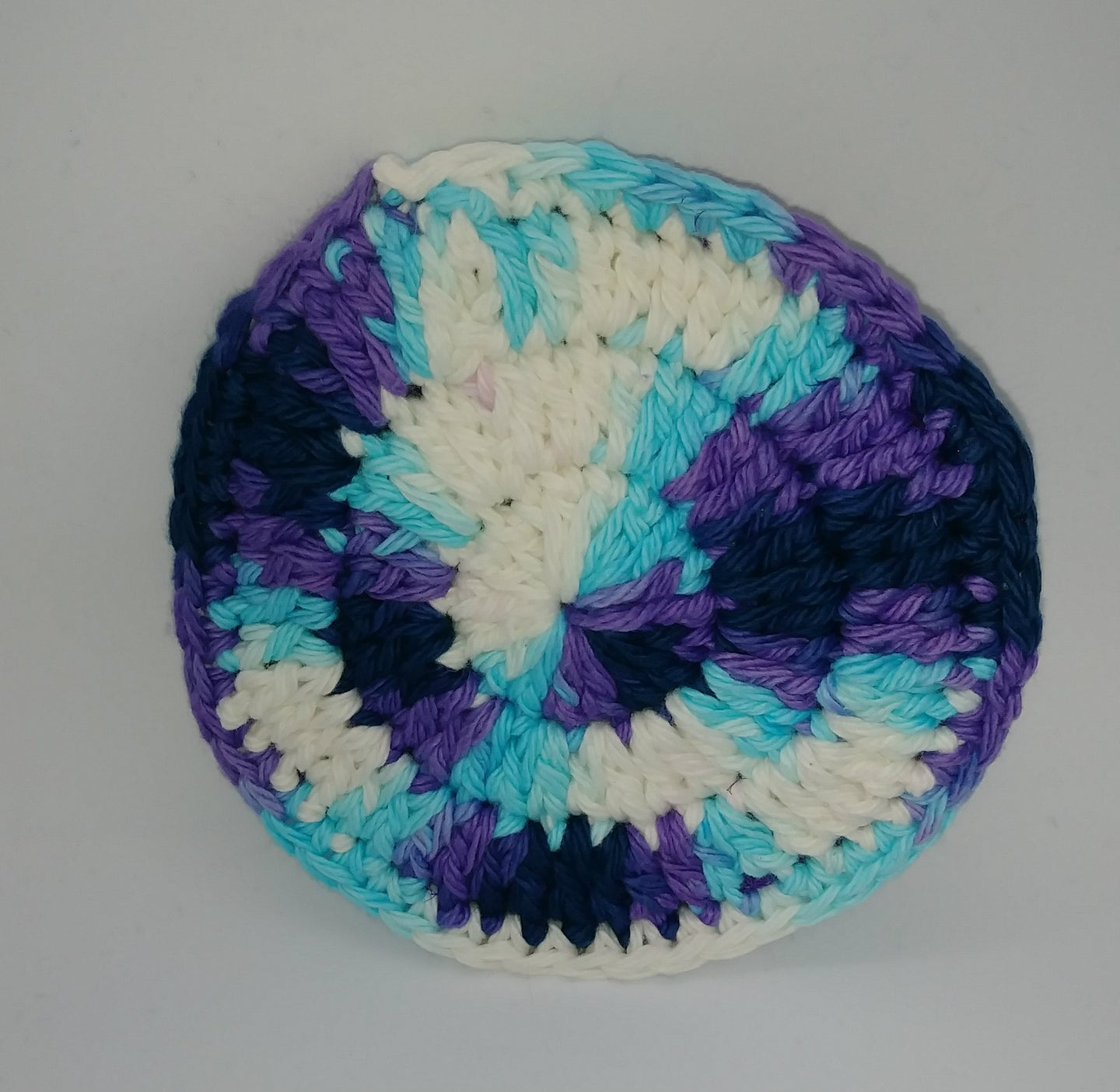 Moonstone & Dark Purple Cotton & Nylon Dish Scrubbies