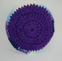 Load image into Gallery viewer, Moonstone & Dark Purple Cotton & Nylon Dish Scrubbies