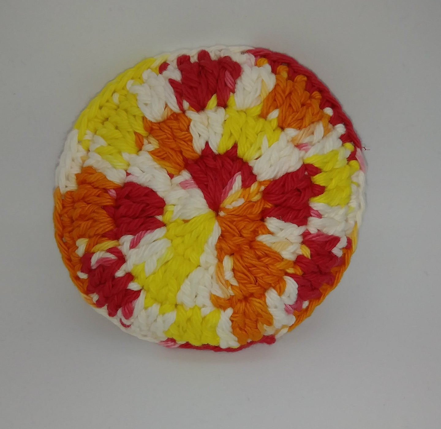 Hot Ombre Red Orange Yellow White Cotton & Nylon Dish Scrubbies