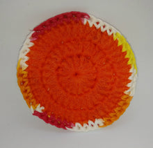 Load image into Gallery viewer, Hot Ombre Red Orange Yellow White Cotton & Nylon Dish Scrubbies
