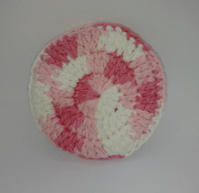 Load image into Gallery viewer, Pink White Cotton & Nylon Dish Scrubbies