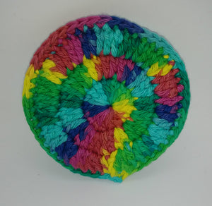 Pink Yellow Blue Green Cotton & Nylon Dish Scrubbies