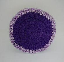Load image into Gallery viewer, Purple White Cotton & Nylon Dish Scrubbies