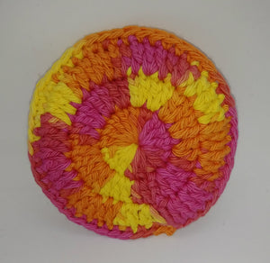 Pink Yellow Orange Cotton & Nylon Dish Scrubbies