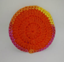 Load image into Gallery viewer, Pink Yellow Orange Cotton & Nylon Dish Scrubbies