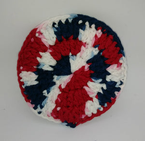Faded Glory Red  Cotton & Nylon Dish Scrubbies