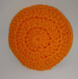 Orange Cotton & Nylon Dish Scrubbies