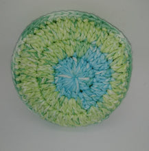 Load image into Gallery viewer, Lime Green Blue Cotton & Nylon Dish Scrubbies