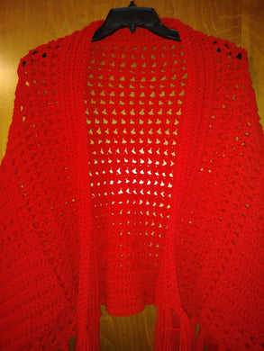 Red Ladies Pocket Shawl Women's Accessories