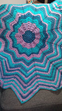 Load image into Gallery viewer, 12 Point Star Baby Blanket in Blues & Purples