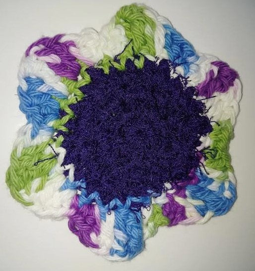 Flower Kitchen Durable Dish Pot Scrubbies 4